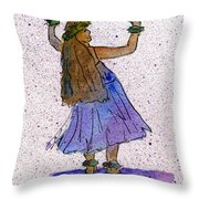 Hula Series Malia Throw Pillow