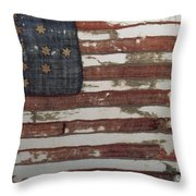 Hulbert Flag Early Us Flag 1776 Throw Pillow by Photo Researchers