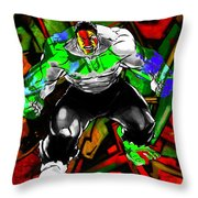 Hulk Graffiti Throw Pillow