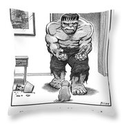 Hulk No Can Be Mad At Mr. Puppy Face Throw Pillow
