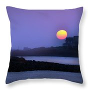 Hull Of A Sunrise Throw Pillow