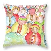 Humains / Human Beings Throw Pillow