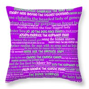 Human Carnival Sideshows And Other Oddities Of The World 20130625p60 Throw Pillow