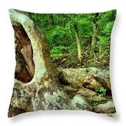 Human Eating Tree Throw Pillow