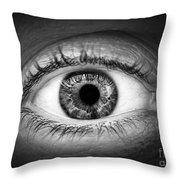 Human Eye Throw Pillow by Elena Elisseeva