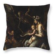 Human Frailty, C.1656 Throw Pillow