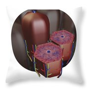 Human Liver Lobules, Cross-section Throw Pillow