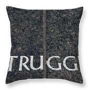 Human Rights Struggle Throw Pillow