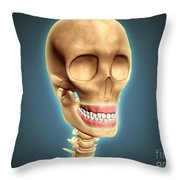 Human Skeleton Showing Teeth And Gums Throw Pillow by Stocktrek Images