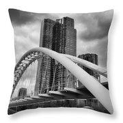 Humber River Arch Bridge 1392 Throw Pillow