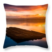 Humboldt Bay Spring Sunrise Throw Pillow