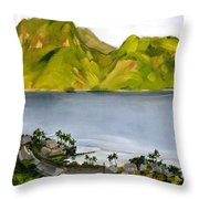 Humid Day In Pago Pago Throw Pillow