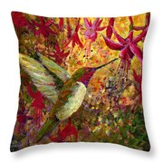 Hummer Dazzle Throw Pillow