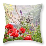 Hummer Shower Throw Pillow