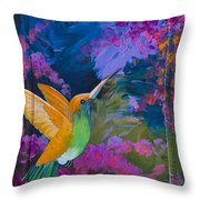 Hummers Paradise Throw Pillow