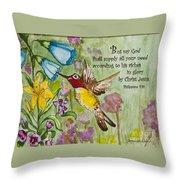 Humming Bird- Philipians Throw Pillow