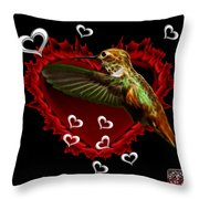 Hummingbird - 2055 F Throw Pillow