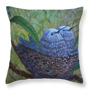 Hummingbird Babies Throw Pillow