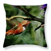 Hummingbird Dreams Digital Art Throw Pillow