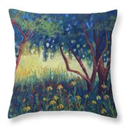 Hummingbird Gardens Throw Pillow