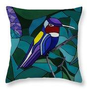 Hummingbird Hamlet Throw Pillow