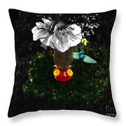 Hummingbird In The Spotlight Throw Pillow by Al Bourassa