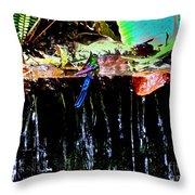 Hummingbird Shower Throw Pillow