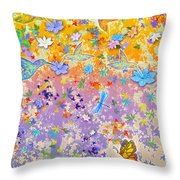 Hummingbird Spring Throw Pillow