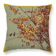 Hummingbirds On Yellow Tree Throw Pillow