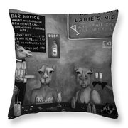 Hump Day Bw Throw Pillow