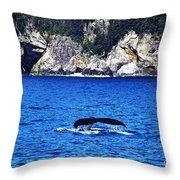 Humpback Whale Alaska Throw Pillow