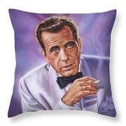 Humphrey Bogart Throw Pillow