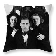 Humphrey Bogart In The Black Legion 1937 Throw Pillow