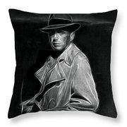 Humphrey Bogart - Pencil Throw Pillow