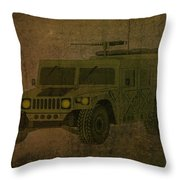 Humvee Midnight Desert  Throw Pillow