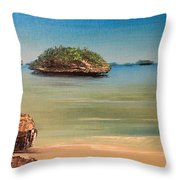 Hundred Islands In Philippines Throw Pillow