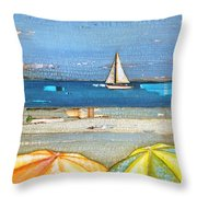 Hundred Percent Chance Of Sun Showers Throw Pillow by Danny Phillips