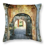 Hung Temple Arches Throw Pillow