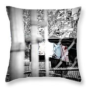 Hung To Dry Throw Pillow