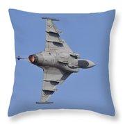 Hungarian Air Force Saab Jas-39 Gripen Throw Pillow