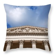 Hungarian National Museum Architectural Details Throw Pillow