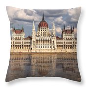 Hungarian Parliament Budapest Throw Pillow