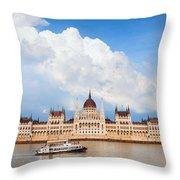 Hungarian Parliament Building Throw Pillow