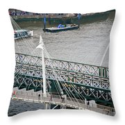 Hungerford Bridge Throw Pillow