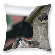 Hungry Babies Throw Pillow