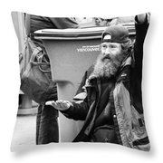 Hungry City  Throw Pillow