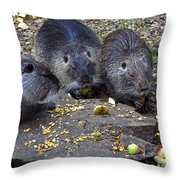 Hungry Critters Throw Pillow