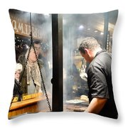 Patience Throw Pillow by Pete Edmunds