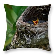 Hungry Mouth Throw Pillow