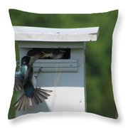 Hungry Nestling. Throw Pillow